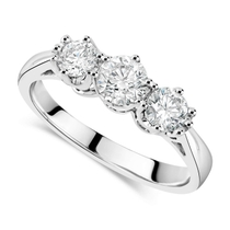 18ct White Gold 3 Stone Engagement Ring