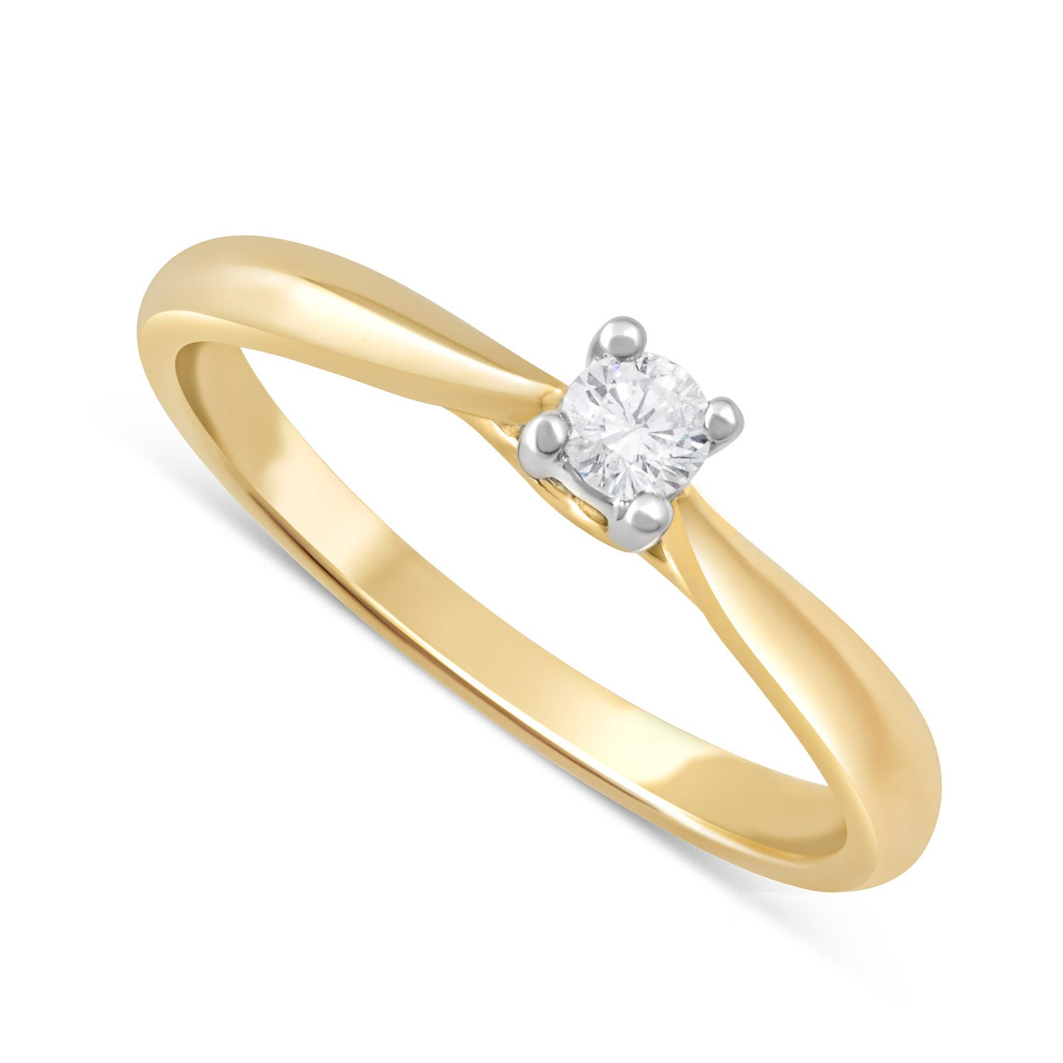 9ct Gold Solitaire Engagement Ring