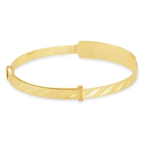 9ct Yellow Gold Baby Bangle with ID Plate