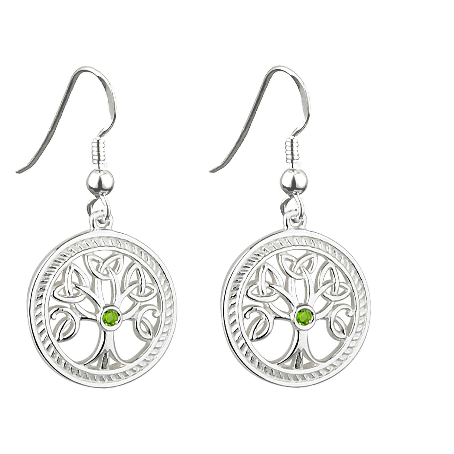 Ladies Sterling Silver 'Tree of Life' Earrings