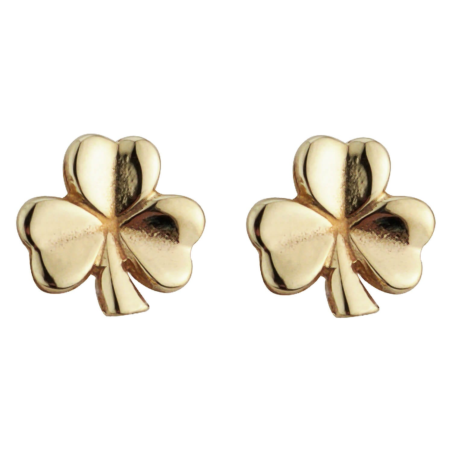 9ct Gold Small Shamrock Stud Earrings