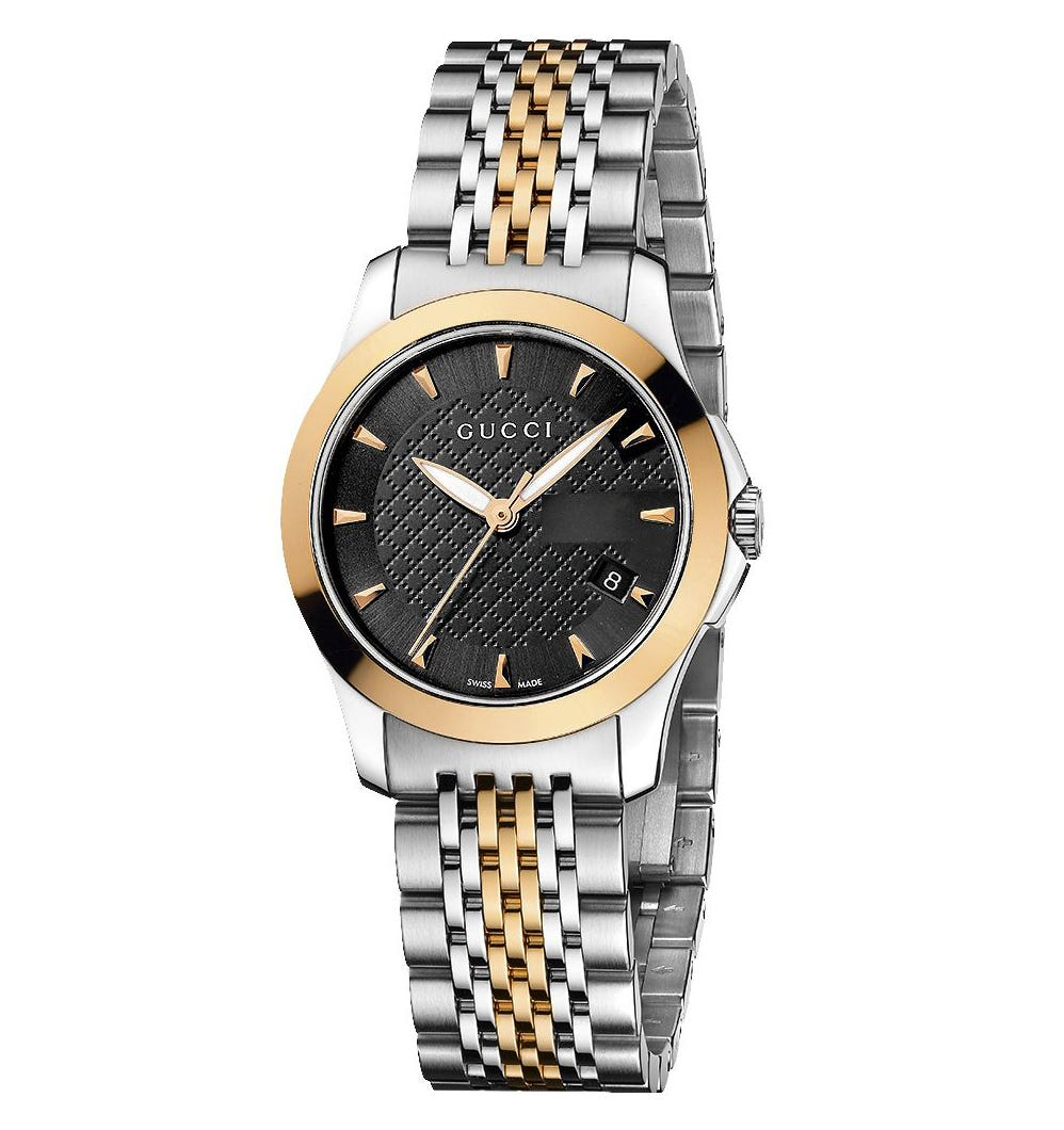 Gucci G-Timeless ladies' stainless steel and rose gold-plated watch