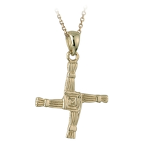 9ct Yellow Gold Pendant St. Brigid
