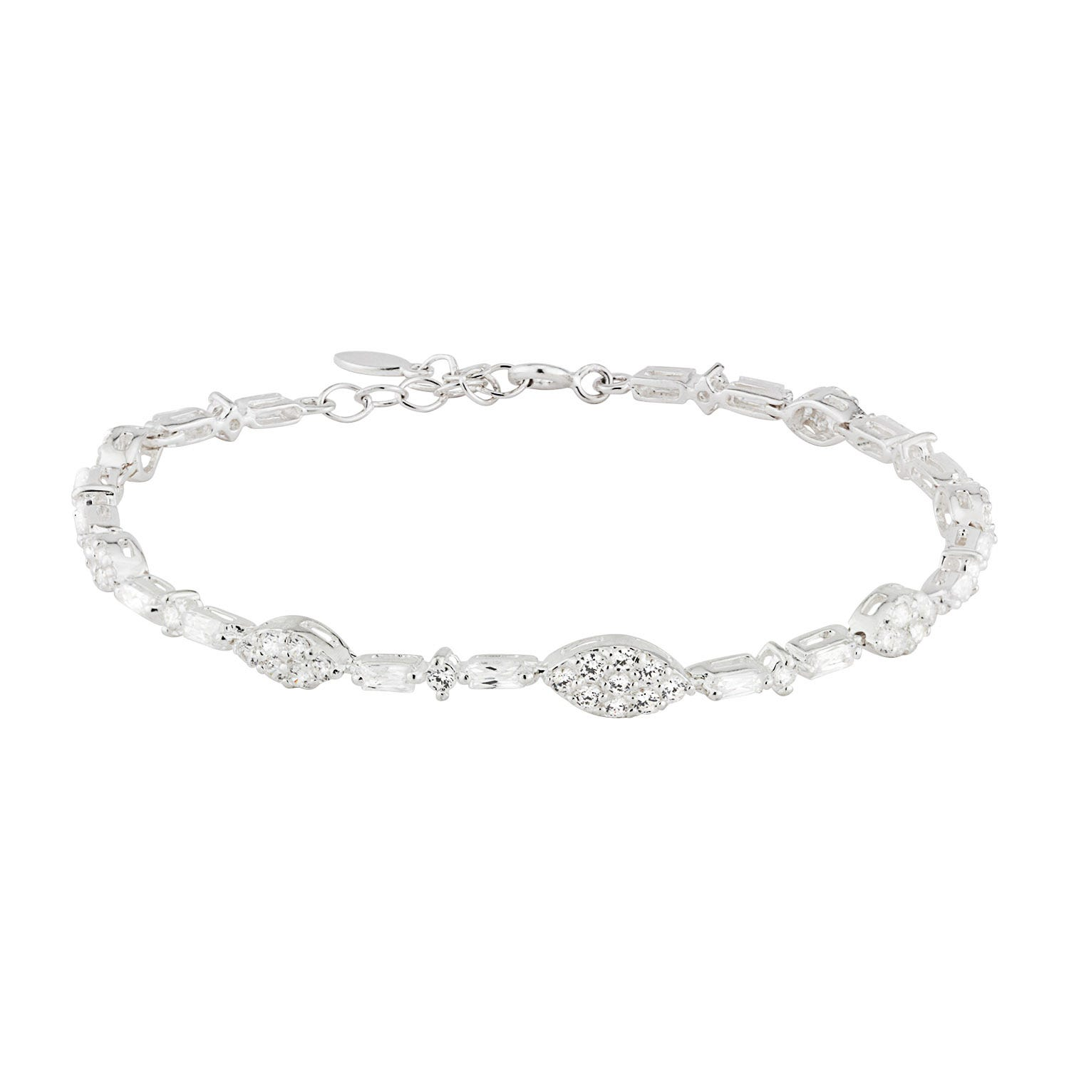 Sterling Silver and Cubic Zirconia Bracelet
