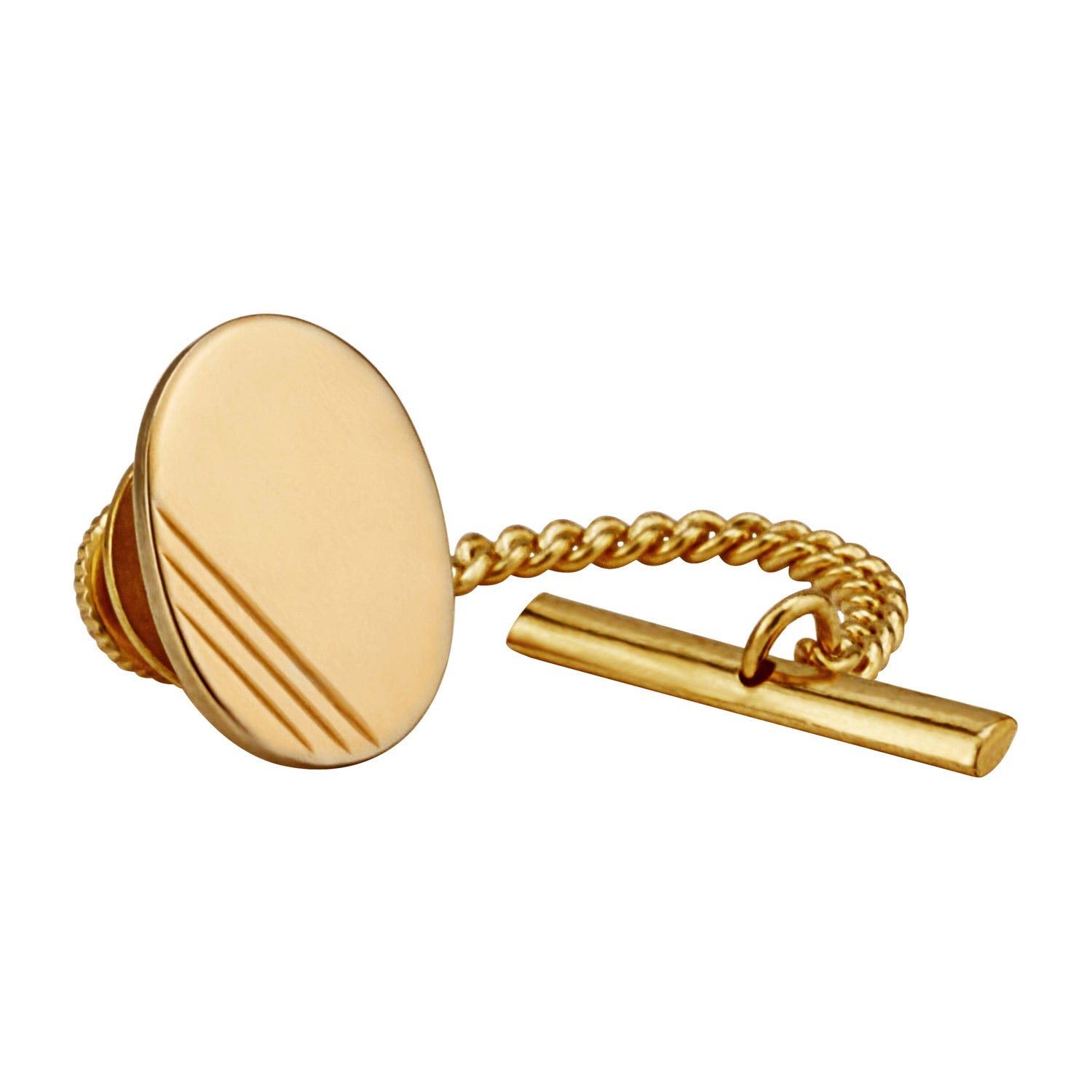 Gents Sterling Silver and Gold Plated Tie Tack