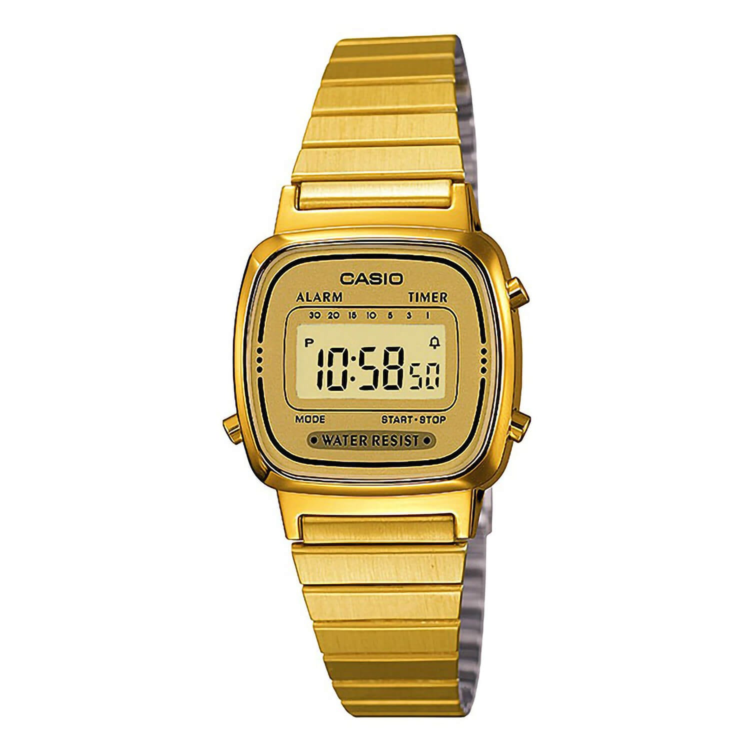 Casio Retro Mini Gold Watch
