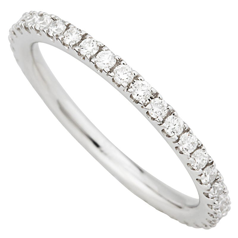 Ladies 9ct White Gold Diamond Full Eternity Band.