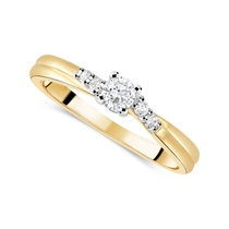 Ladies 9ct Gold and Diamond Twist Engagement Ring