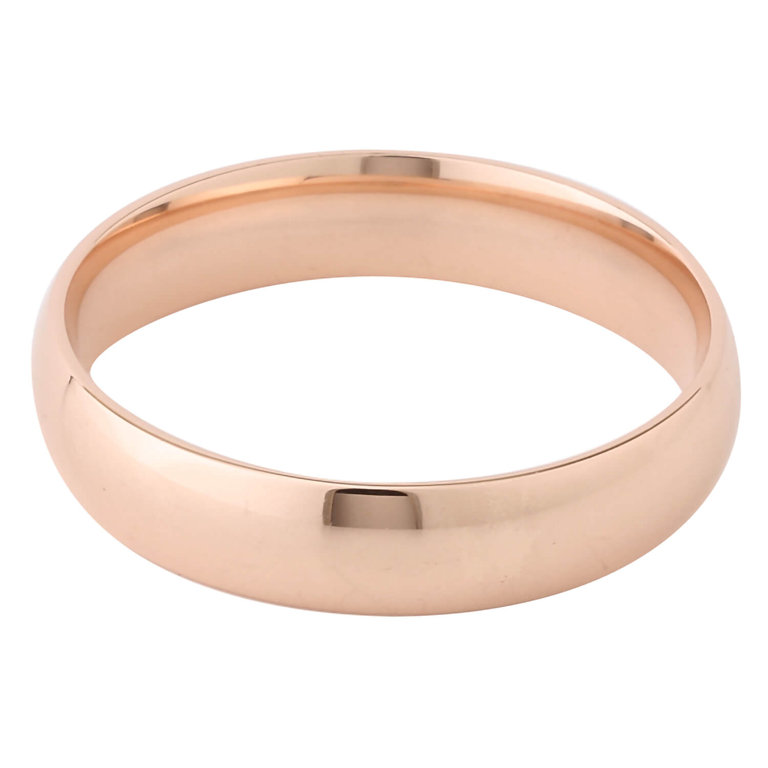 9ct Rose Gold Plain Court Wedding Band 5mm