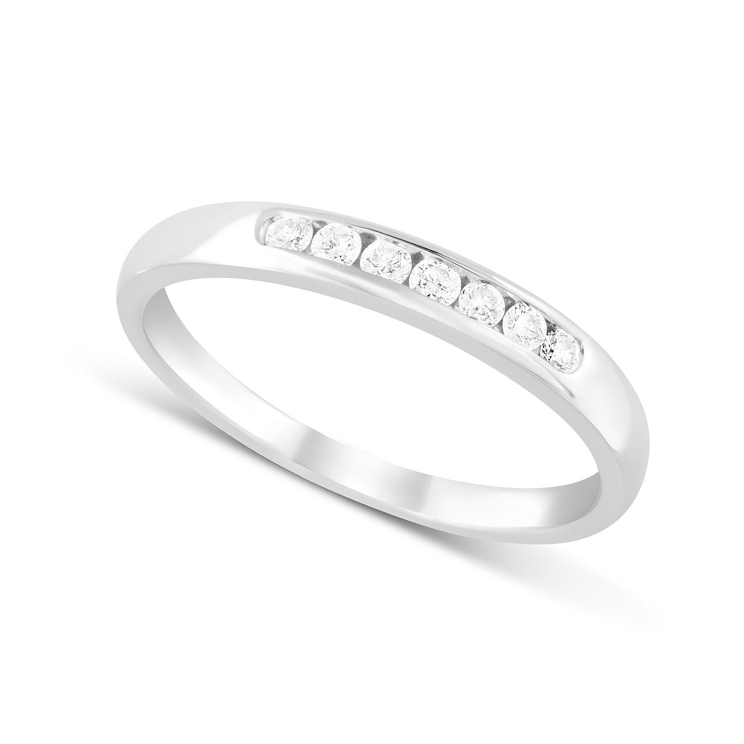Ladies 18ct White Gold Channel Set Eternity Ring