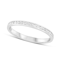 9ct White Gold and Diamond 2mm Wedding Band