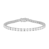 Silver and cubic zirconia tennis bracelet