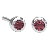 Lulu Ladybird Sterling Silver February Birthstone Earrings