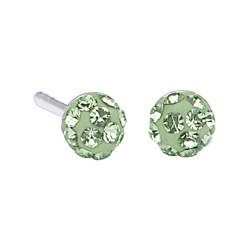 Lulu Ladybird Sterling Silver August Disco Ball Studs
