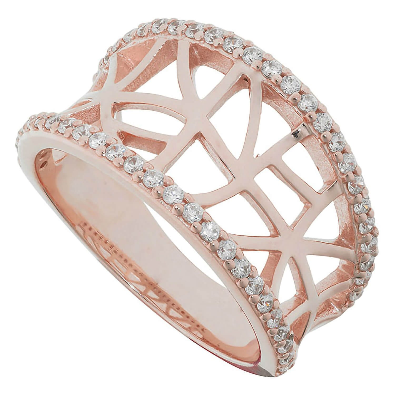 Ladies Apassionata Rose Gold Sterling Silver Ring