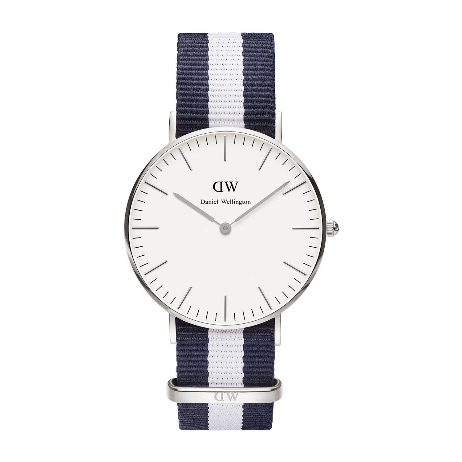 Daniel Wellington Classic Glasgow Lady blue and white NATO strap watch