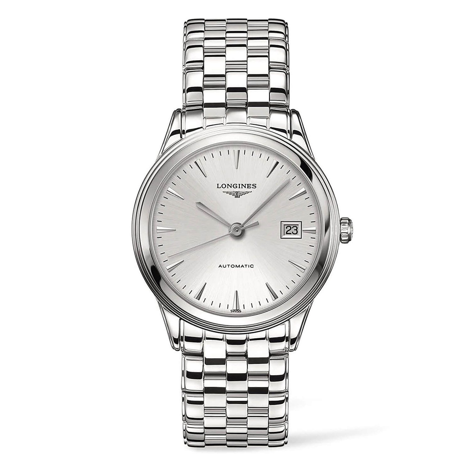 Longines Flagship Auto Grey Dial Steel Bracelet Men's Watch