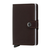 Secrid Mini Brown Leather Wallet