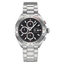 TAG Heuer Formula 1 Automatic Chronograph Men's Black Dial Stainless Steel Bracelet Watch