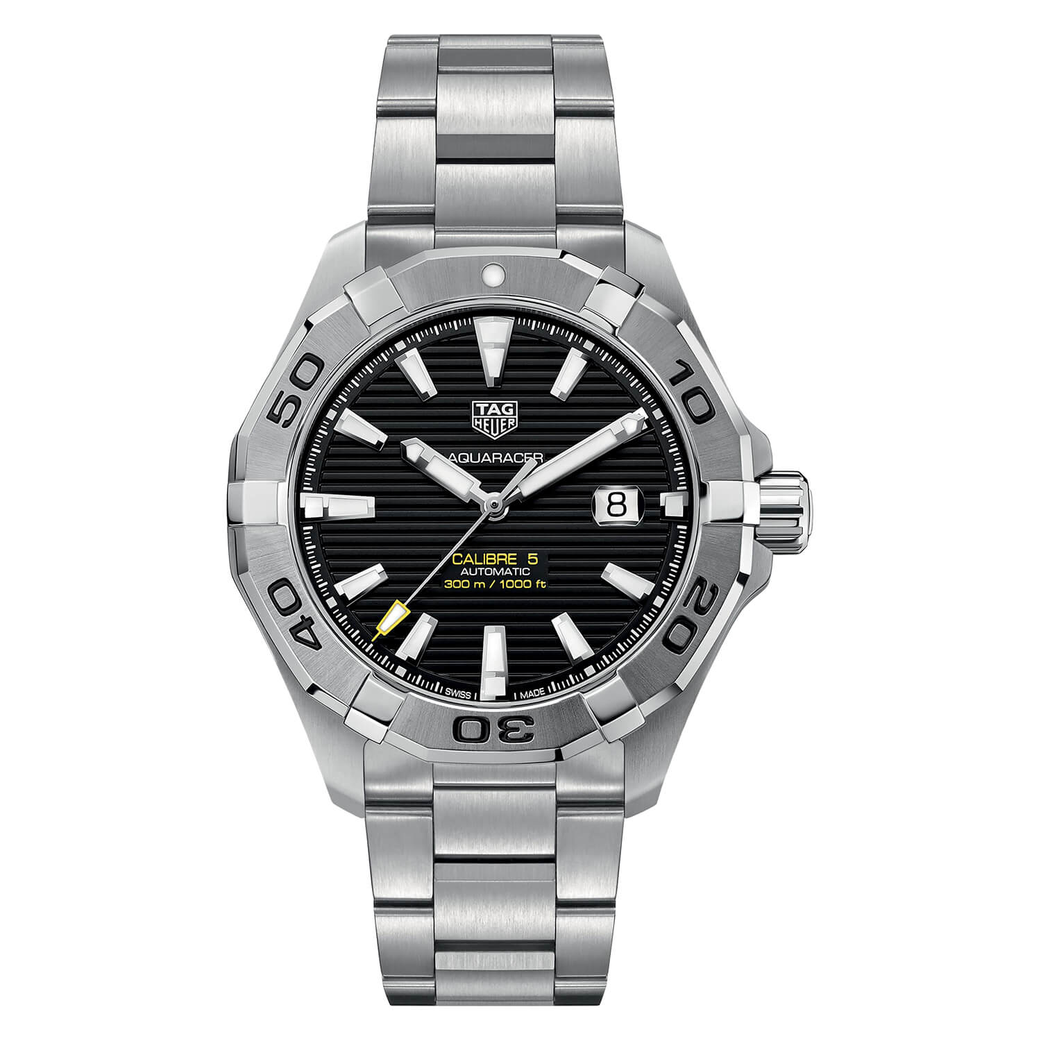 TAG Heuer Aquaracer Men's Black Dial Stainless Steel Watch