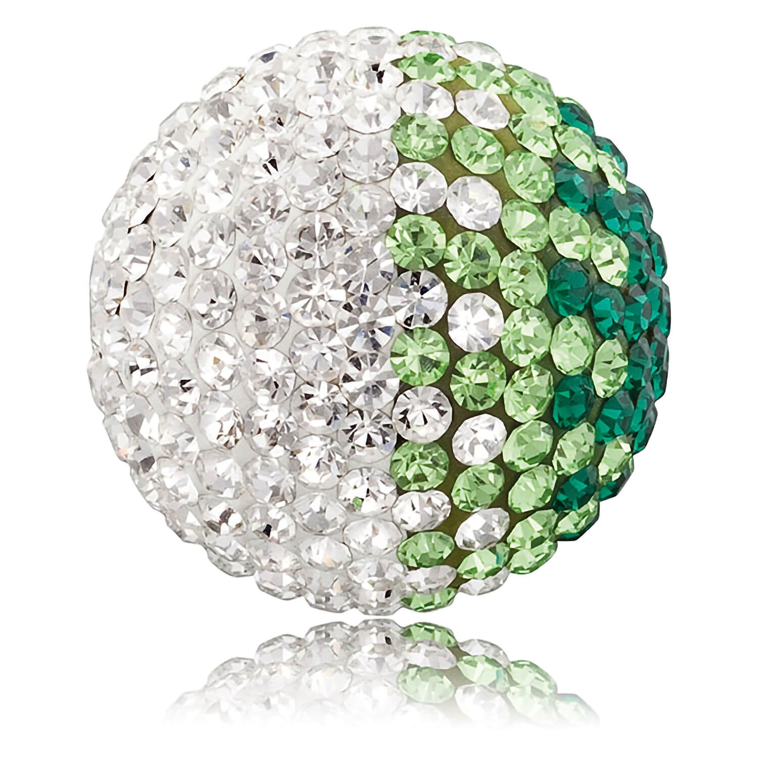 Engelsrufer Medium White And Green Crystal 17mm Sound Ball