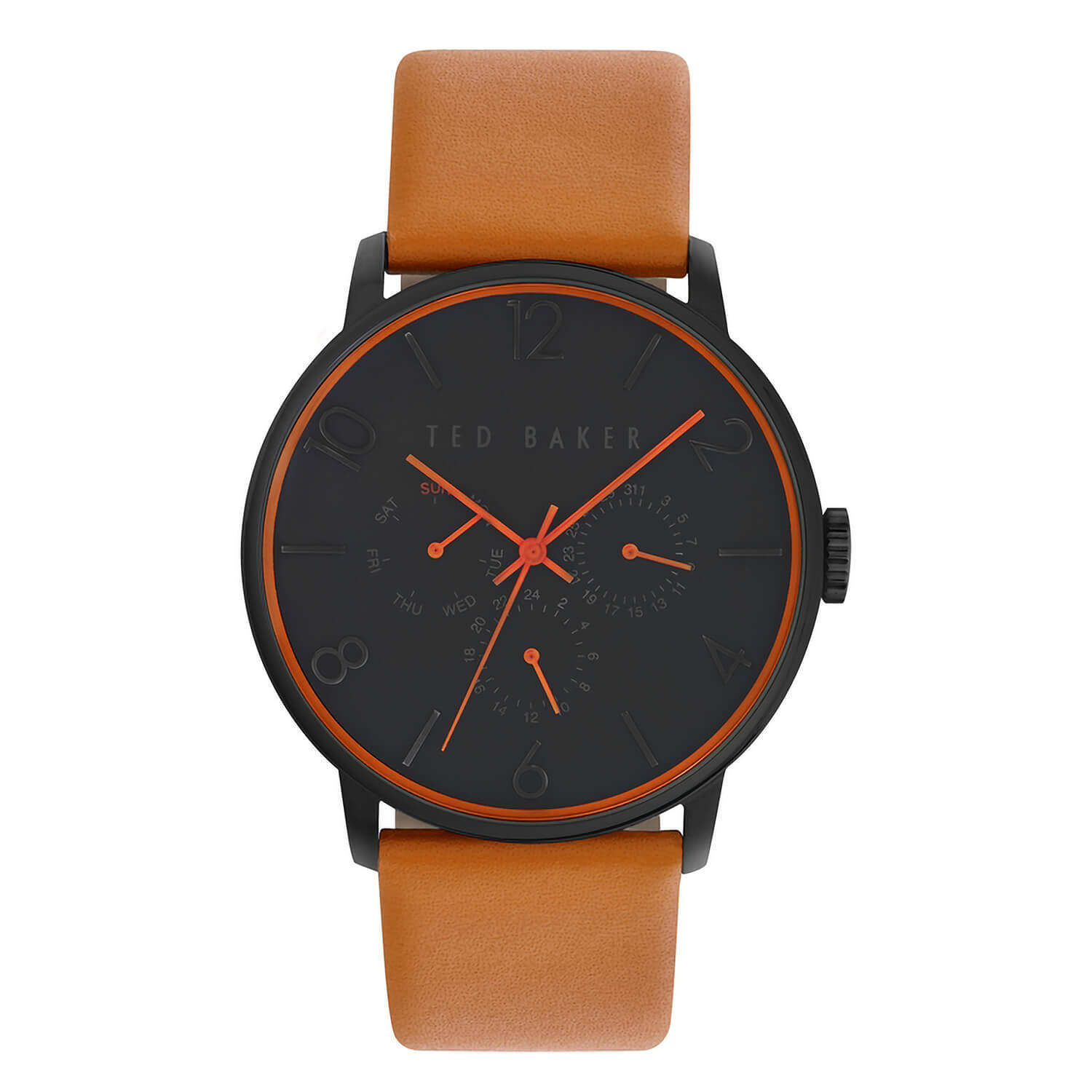 Ted Baker Men's Chronograph Orange Leather Strap Watch