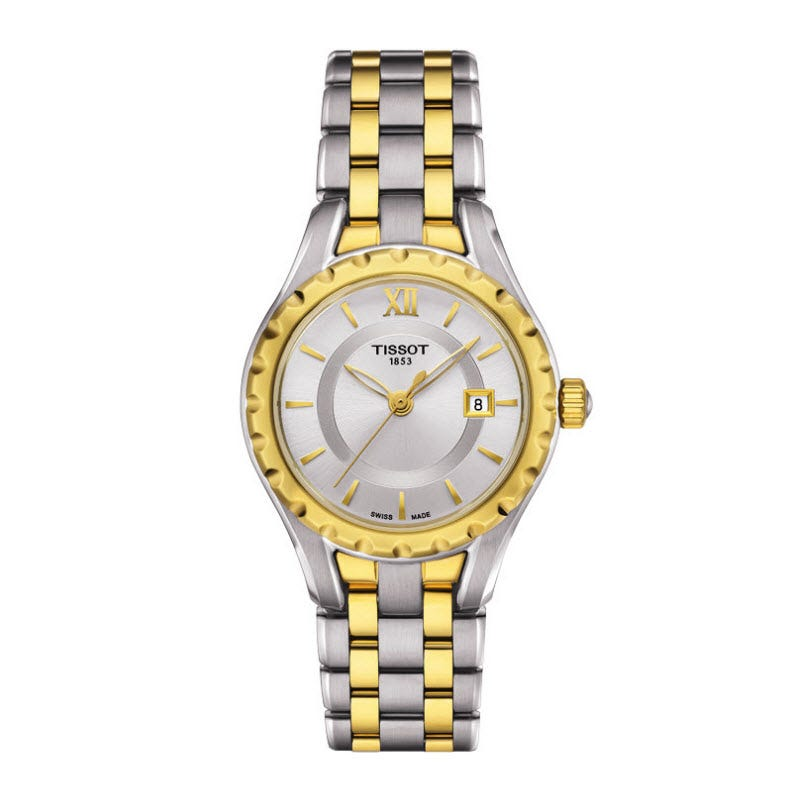 Tissot T-Lady Ladies' Mother of Pearl Dial Two-Tone Bracelet Watch