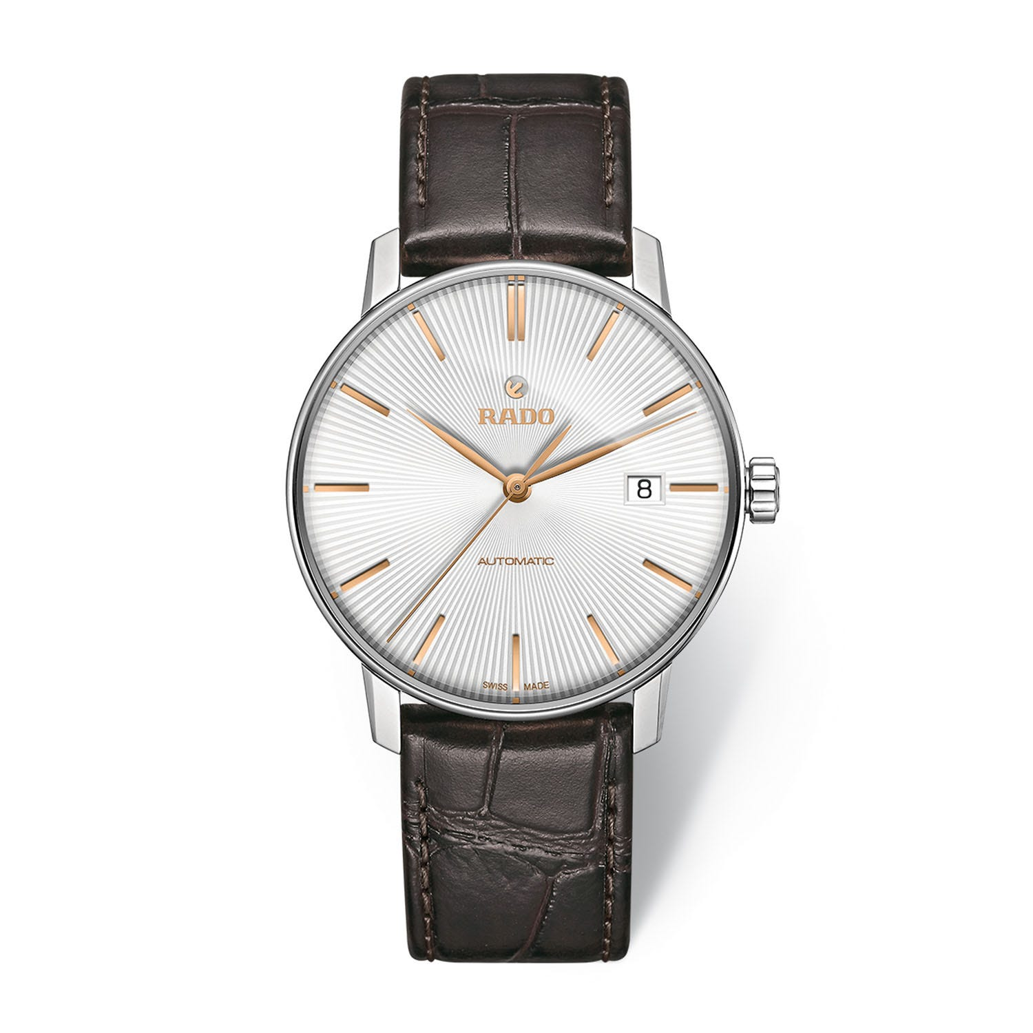 Rado Coupole Classic Automatic Men's Brown Leather Strap Watch
