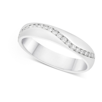 Ladies' 18ct White Gold Diamond Wave 4.25mm Wedding Ring
