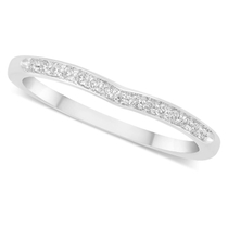 Ladies' 18ct White Gold Diamond-set Shaped Wedding Ring