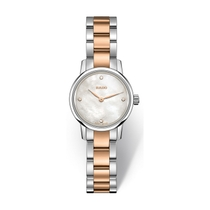 Rado Coupole Classic Mini Mother of Pearl Two Tone Rose Bracelet Watch