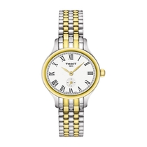 Tissot Bella Ladies' White Dial Two Tone Stainless Steel Bracelet Watch