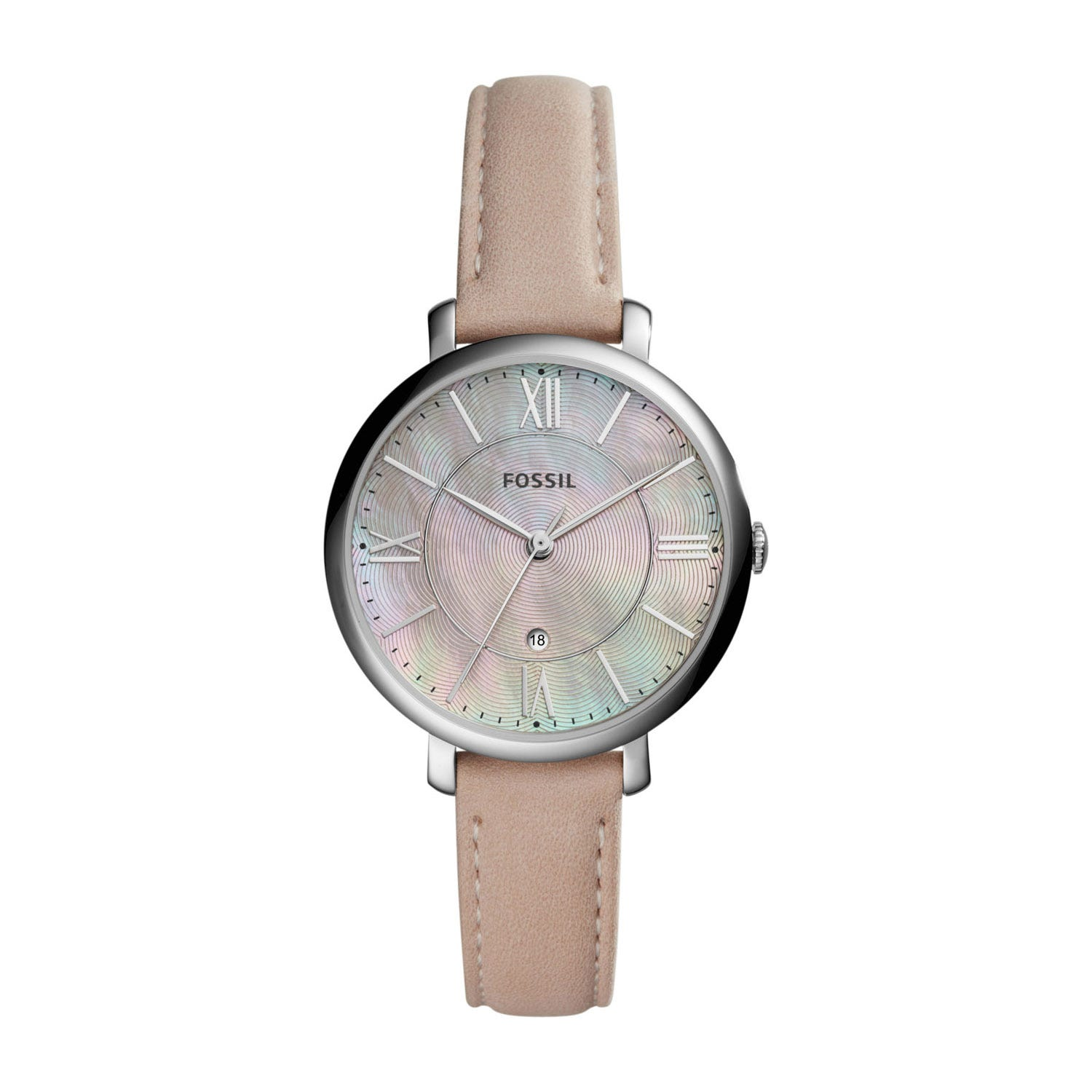 Fossil Jacqueline Ladies' Pink Mother of Pearl Pink Strap Watch