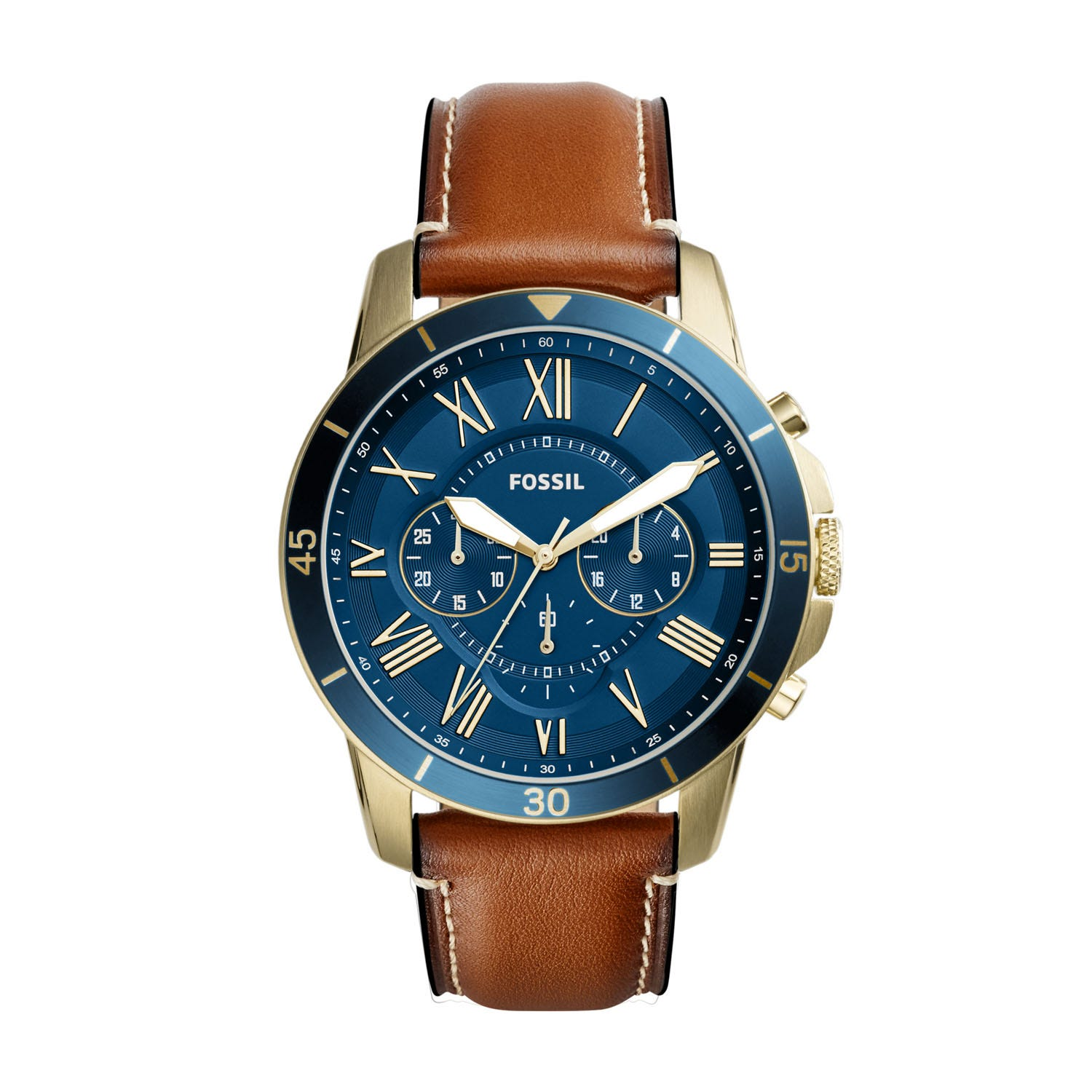 Fossil Grant Blue Dial Chronograph Men's Watch
