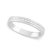 9ct White Gold 0.10ct Diamond Dot 2.5mm Ladies' Wedding Ring
