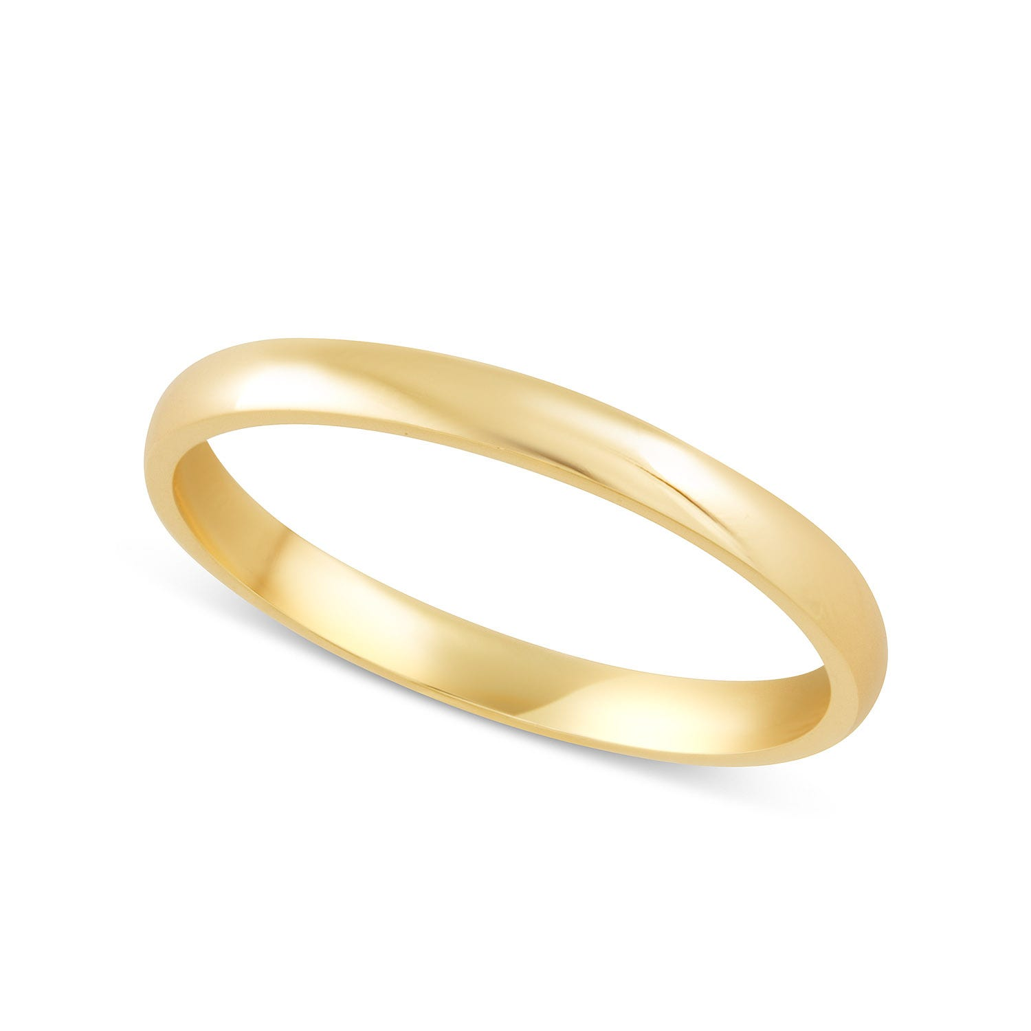 18ct Gold Classic Ladies 2mm Court Wedding Ring