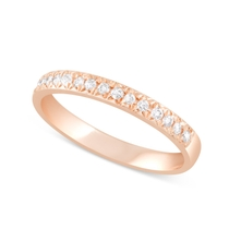 9ct Rose Gold 0.20ct Diamond 2.5mm Ladies' Wedding Ring