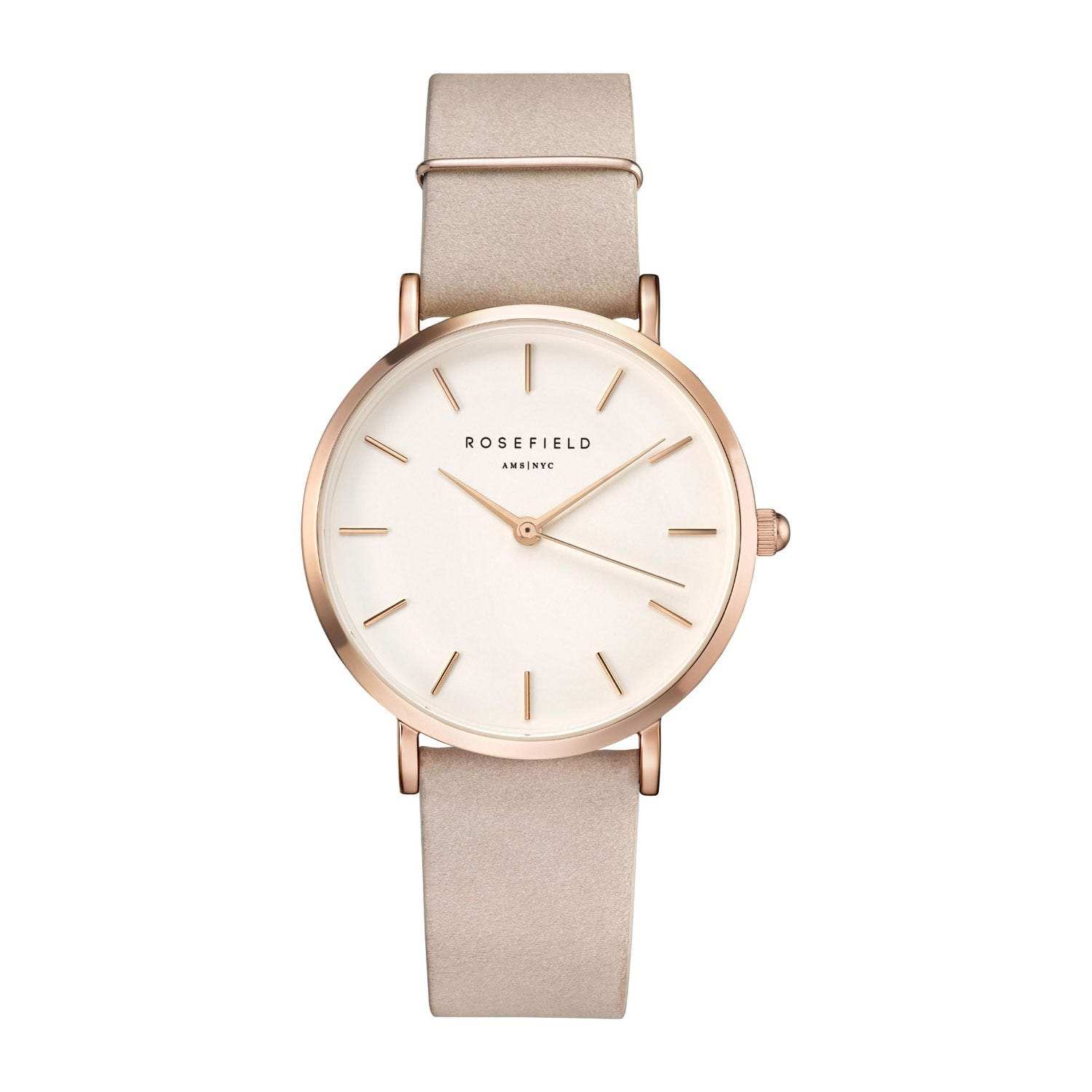 Rosefield THE WEST VILLAGE White Soft Pink Rose Gold