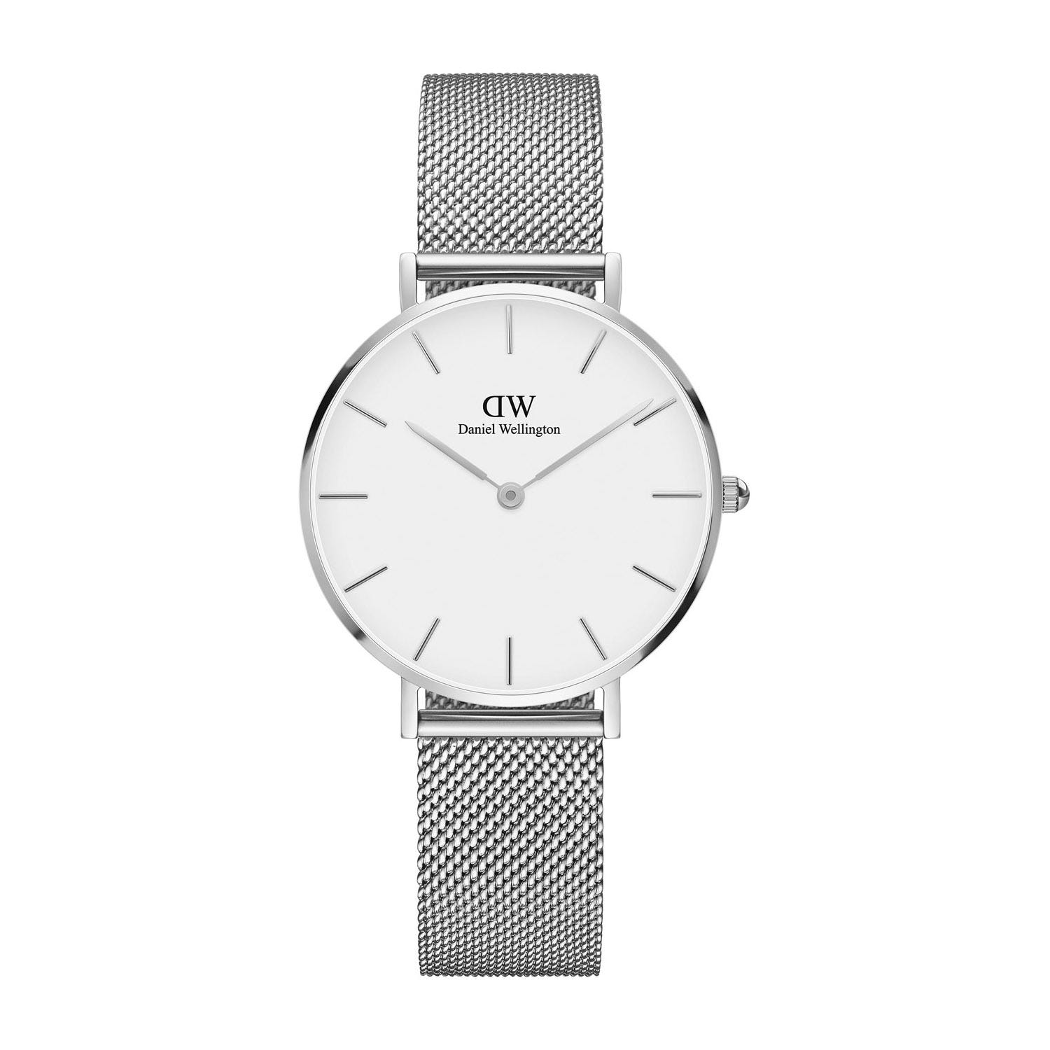 Daniel Wellington Classic Petite Sterling Mesh Strap Watch