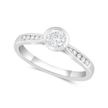 18ct White Gold 0.50ct Diamond Channel Shoulders Ring