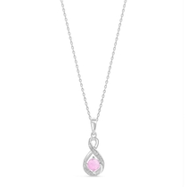 Sterling Silver and Cubic Zirconia October Birthstone Pendant