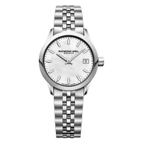Raymond Weil Freelancer Mother Of Pearl Dial Stainless Steel Bracelet Watch