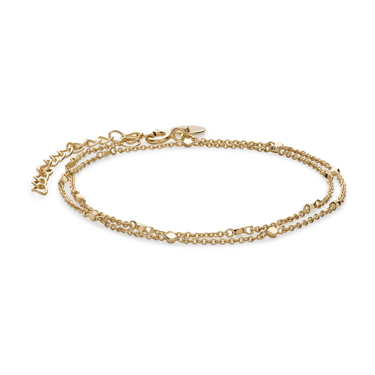 Rosefield Broome Yellow Gold Plated Double Wrap Chain Bracelet