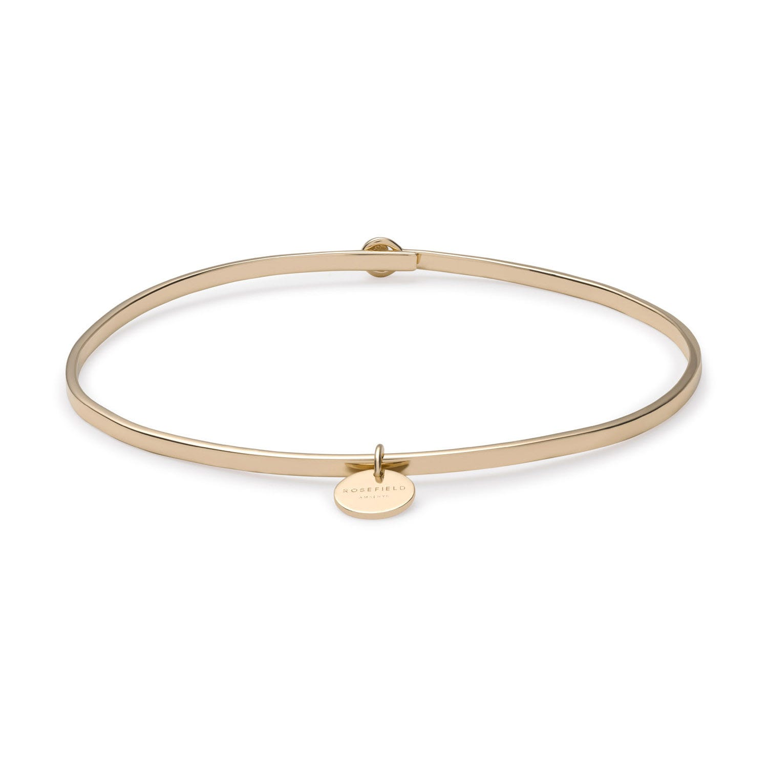 Rosefield Wooster Yellow Gold Plated Charm Bangle (Small)