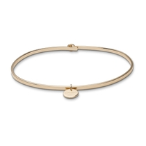 Rosefield Wooster Yellow Gold Plated Charm Bangle (Medium)