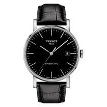 Tissot T-Classic Everytime Swissmatic Black Leather Men's Watch