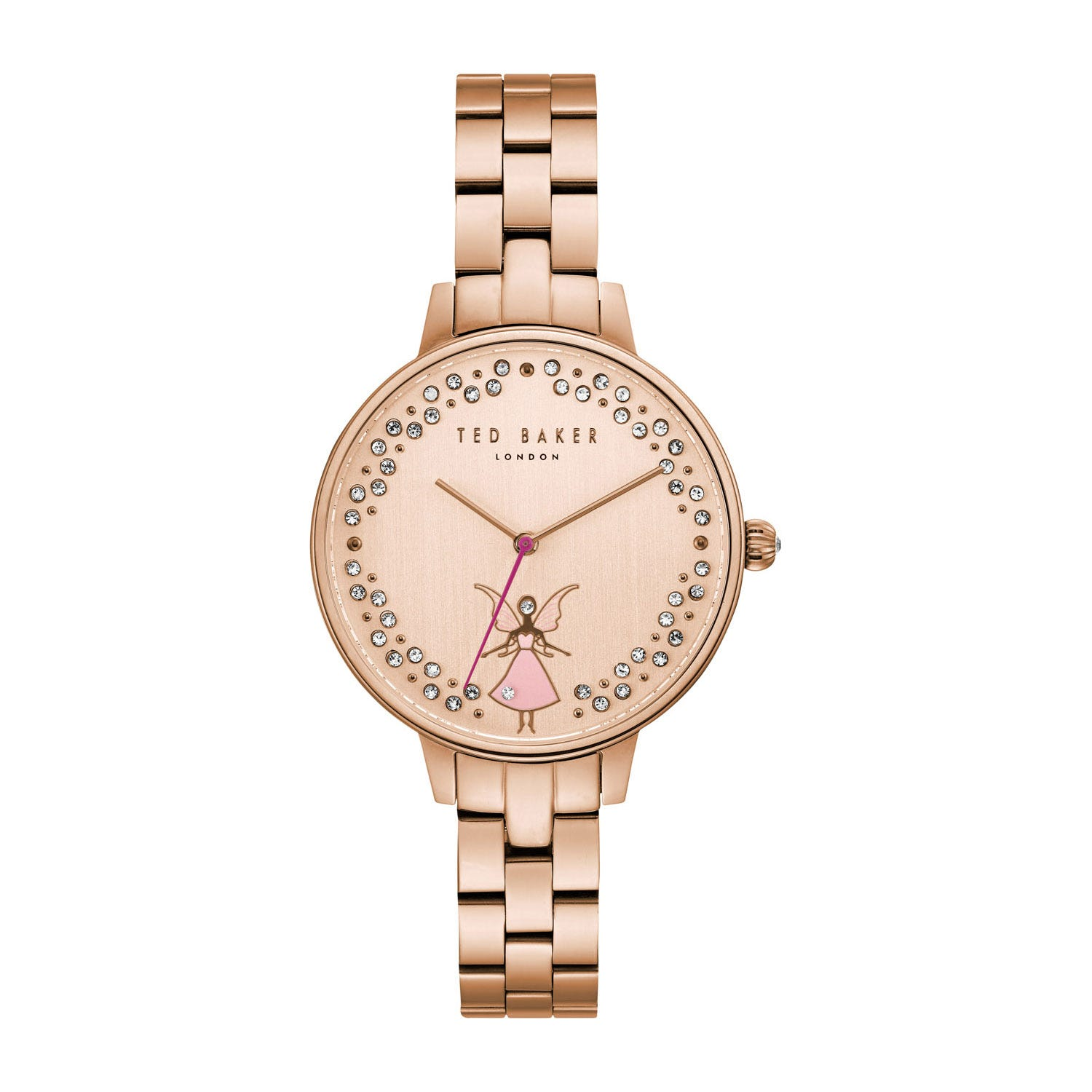 Ted Baker Kate Rose Crystal Fairy Dial Rose Gold-Plated Ladies' Watch