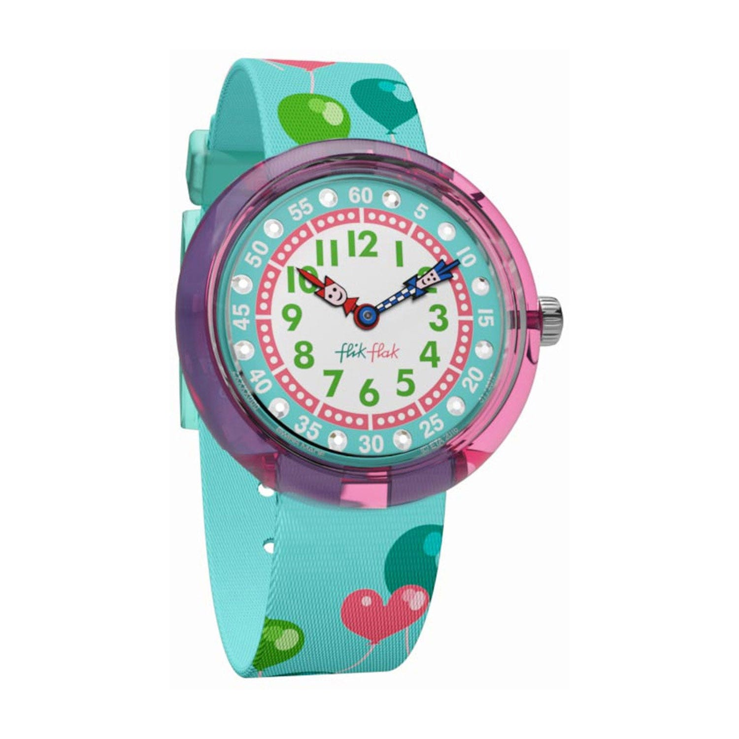Flik Flak Ballola Plastic Case Balloon Textile Strap Children's Watch