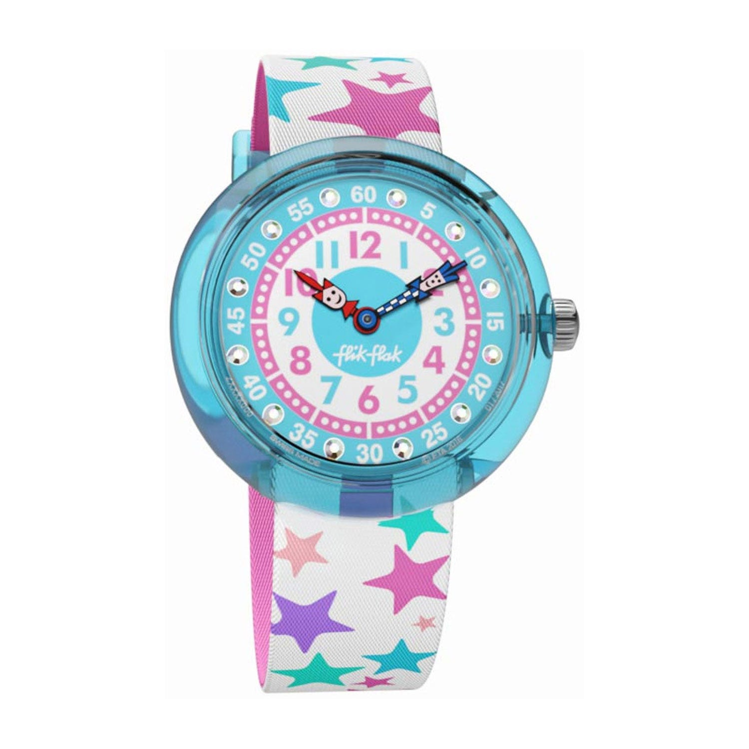 Flik Flak Tahtila Plastic Case Star Textile Strap Children's Watch