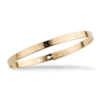 "Mya Bay ""I Am Definitely A Feminist"" Gold Bracelet"